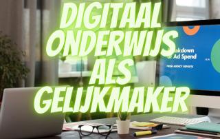 Digitaal onderwijs als gelijkmaker